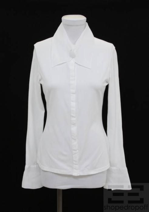 White Cotton Gauze Blouses 41