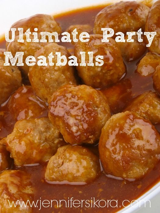 The Ultimate Party Meatballs. This recipe is AMAZING!