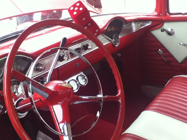 Red And White Leather Seats Classic And Monder Cars Pinterest