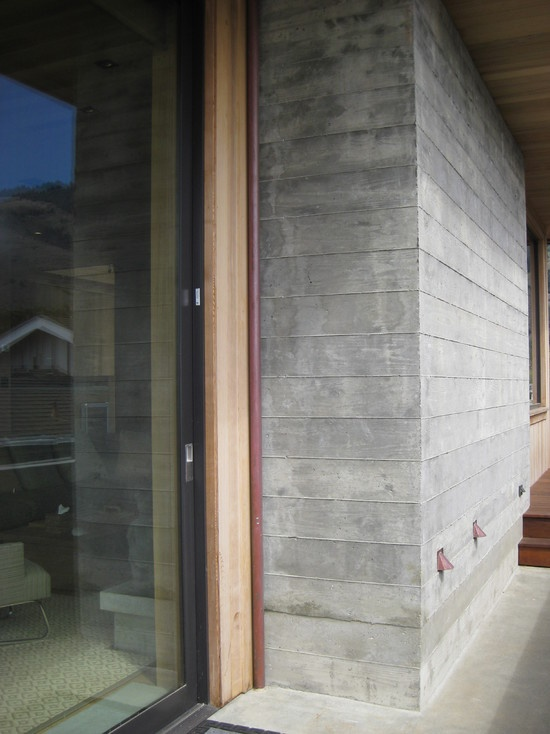 Wood grain concrete outdoor rooms pinterest for Concrete exterior walls