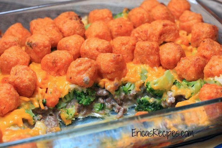 Cheesy Sweet Potato Tater Tot Casserole   Gastronomy   Pinterest