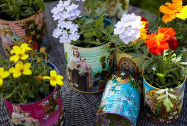 flowers | can & recycled | Pinterest
