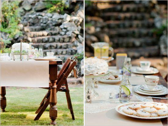 Vintage Backyard Party Ideas : lovely outdoor garden tea party ideas