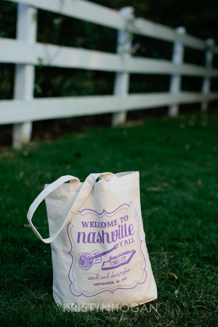 Destination Wedding Gift Bags Guests : Destination wedding guests arrival gift bags at Nashville wedding ...