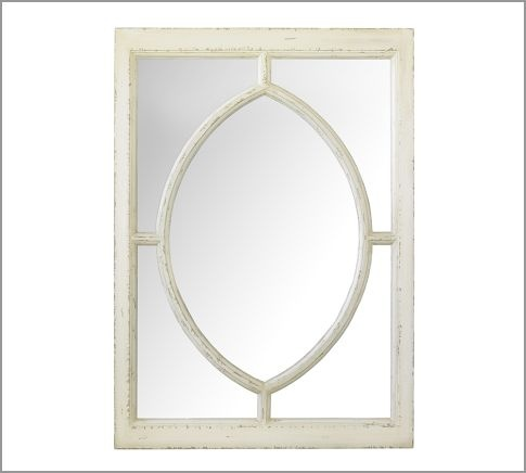 White Observatory Mirror Pottery Barn