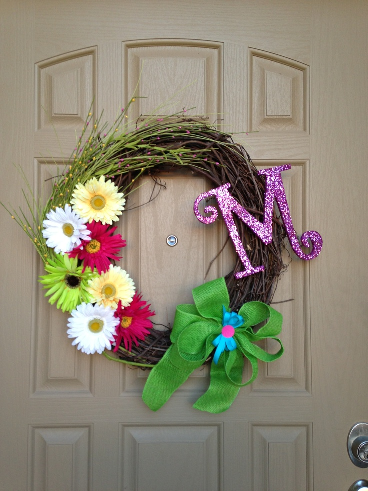 Spring Front Door Wreath Door Wreaths Pinterest