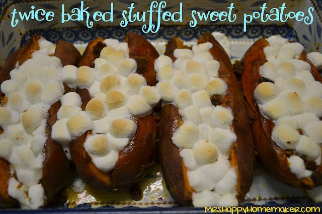 with cinnamon and pecans... looks yum... I love sweet potatoes.