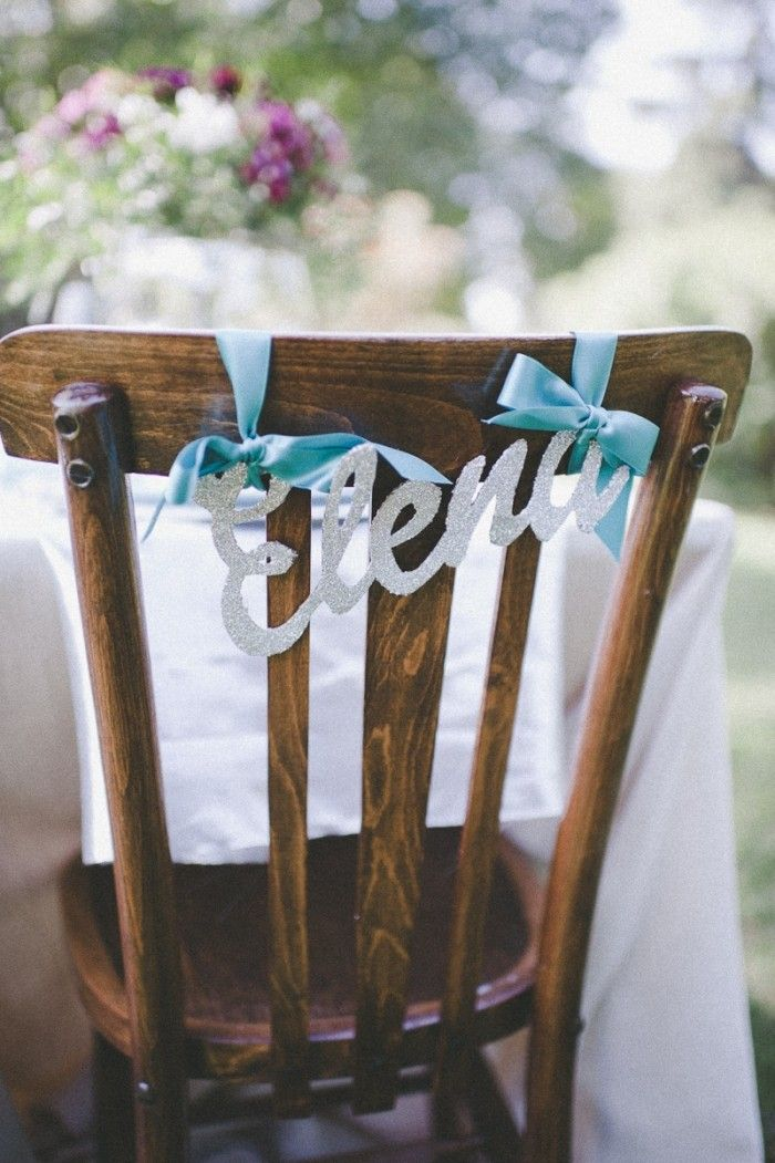 Detalles glitter para una boda de primavera