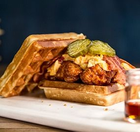 Chicken & Waffles Sandwich - what could be better? Mmmm!
