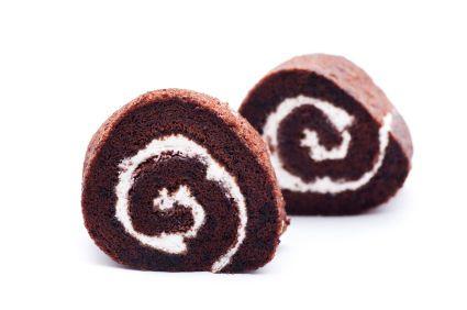 Mmm, like a homemade Ho-Ho! Heavenly Chocolate Cake Roll #recipes