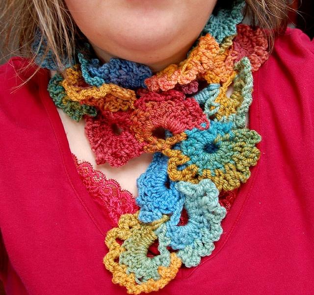Queen Annes Lace Scarf pic Crochet Pinterest