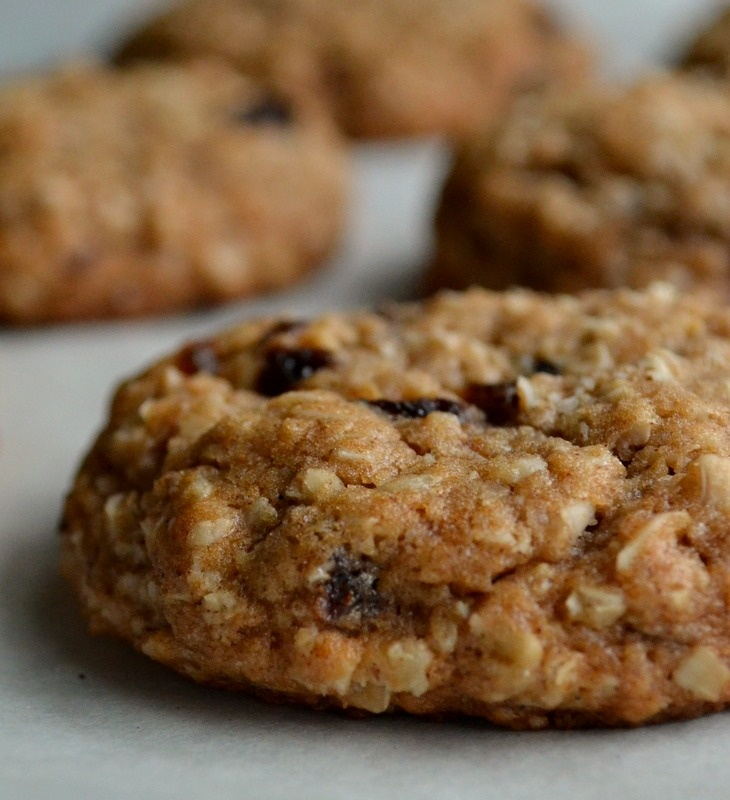 talk to food: brown butter chai oatmeal raisin cookies