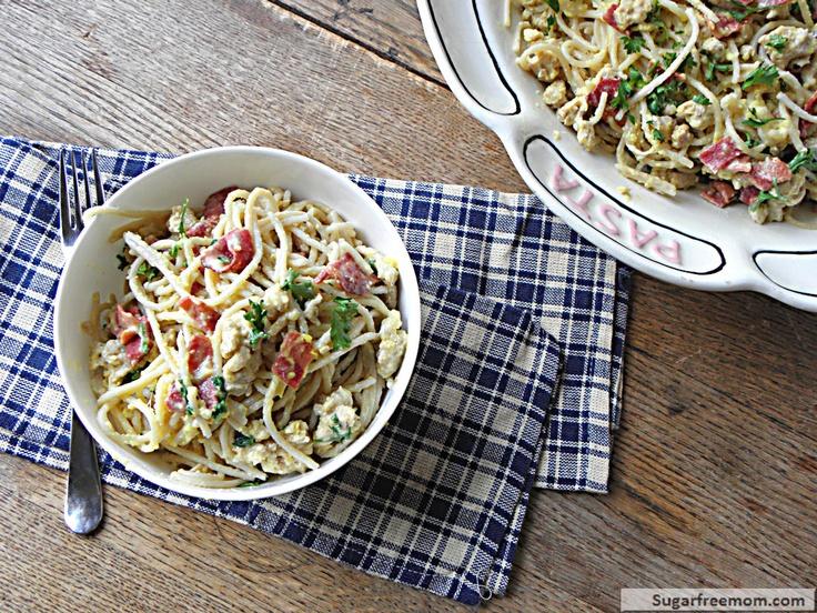 italy pasta dishes lightened up spaghetti carbonara spaghetti squash ...