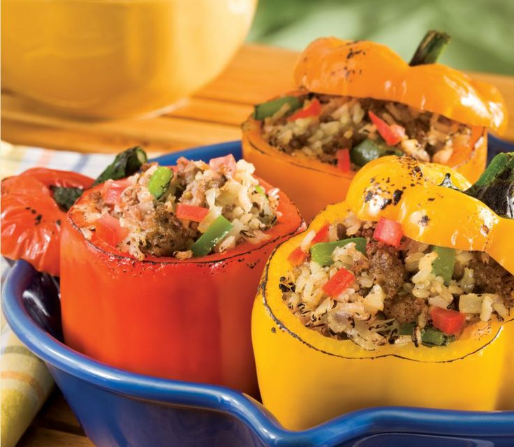 Wild Rice and Sausage Stuffed Peppers