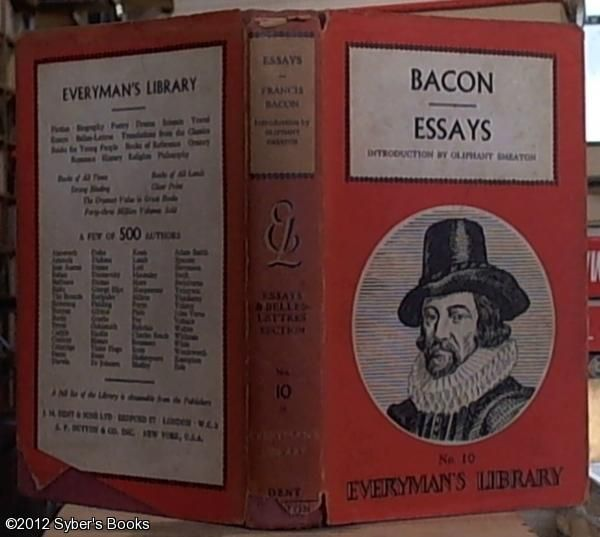 essays francis bacon amazon Achetez et téléchargez ebook essays of francis bacon (english edition): boutique kindle - political : amazonfr.