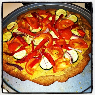 Hummus & Veggie Whole Wheat Pizza! | Healthy Goods | Pinterest