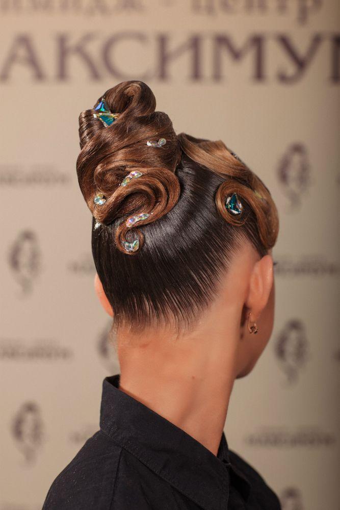 Причёски для спортивно-бальных танцев фото