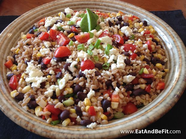 Grilled Corn, Farro and Black Bean Salad~ Hearty whole grain salads ...