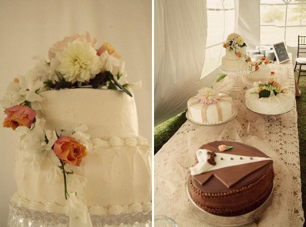 Great idea for several flavors of wedding cakes...
