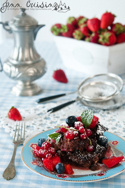 Gluten Free Chocolate Berry Bread Pudding @Jenn Cuisine