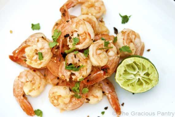 Clean Eating Garlic And Lime Shrimp | The Gracious Pantry