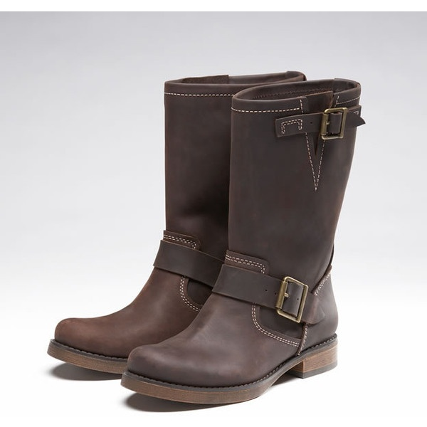 Original  Baker Brown Distressed Leather Women39s Motorcycle Boots Size 37  EBay