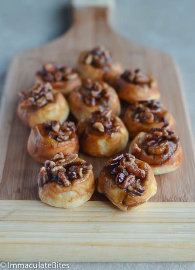 Sticky pecan bite rolls | Food | Pinterest