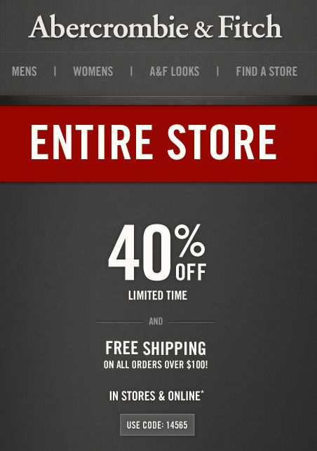 Abercrombie discount coupon