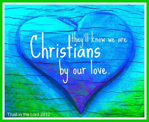 """they will know we are Christians by our love"" ~ when I find myself starting to have a little road rage, I try to sing this song to myself =)"