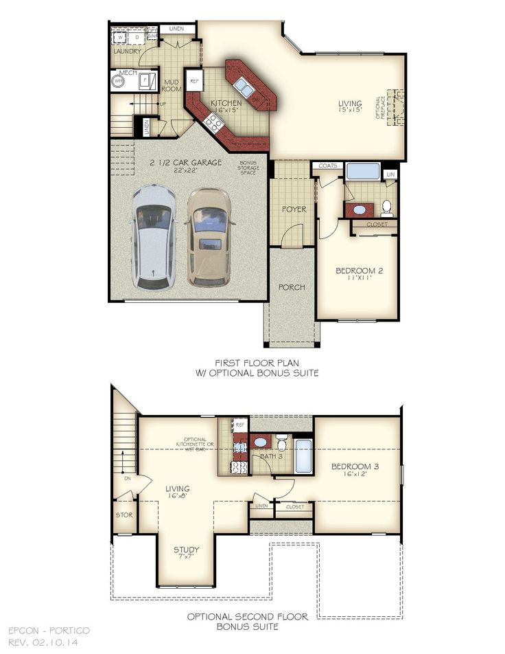 Luxury Villa Plans as well 3 Bedroom Open Floor Plans With Bonus Room as well Mid Century Modern 2 Story Floor Plans additionally Mother In Law Additions likewise Modular Home Floor Plan With Side Porch. on 4 bedroom floor plans ranch