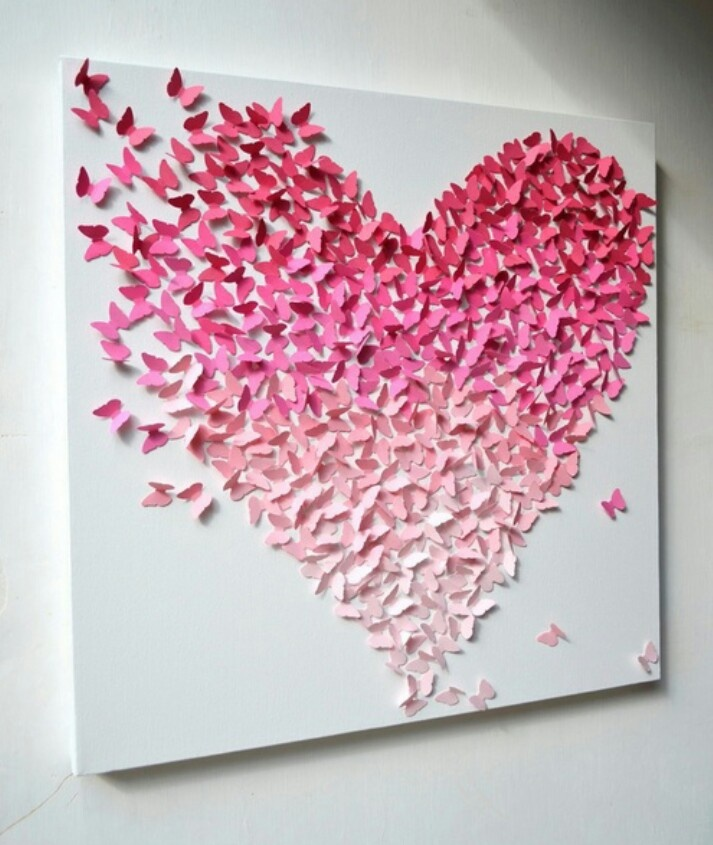 butterfly heart paper art paper cutting pinterest