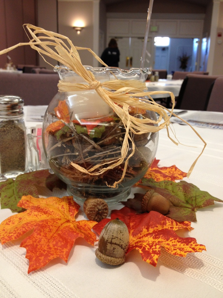 Fall/Autumn Decoration   Table Centerpieces For The Radio Station 20th .