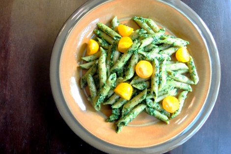 Raw Kale Pesto with Whole Wheat Penne | I Dream of Recipes | Pinterest