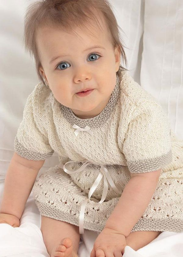 Knitting Dress Baby : Baby lace dress knitting girl dresses pinterest