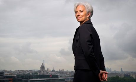 Christine Lagarde Young | Madame Chairman: Christine Lagarde, now head of the IMF, stands on the ...