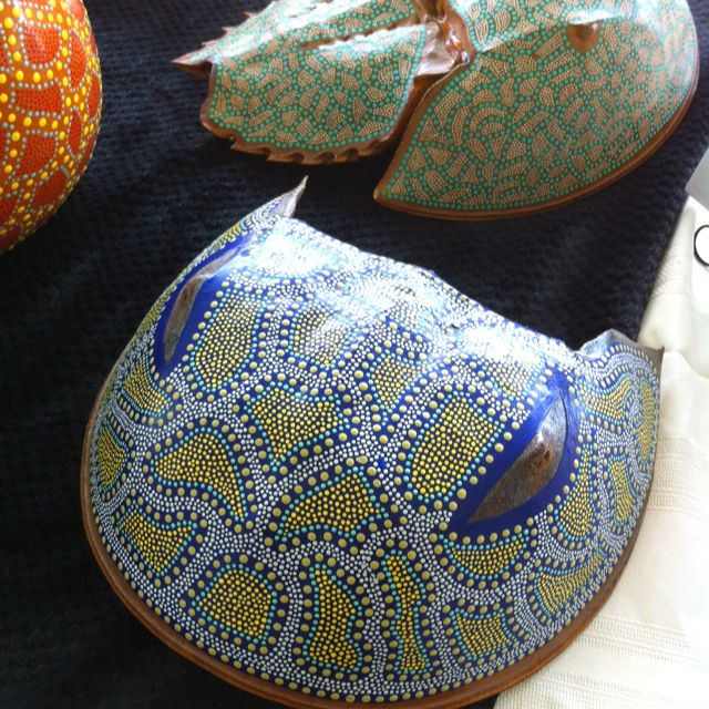 Decorated horseshoe crab shell crafts pinterest for Horseshoe crafts for sale