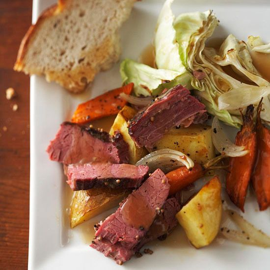 Corned Beef and Cabbage is a St. Patrick's Day classic! See more Irish-inspired recipes: http://www.bhg.com/holidays/st-patricks-day/recipes/fresh-ideas-for-st-patricks-day-dinner/?socsrc=bhgpin030513cornedbeef=6