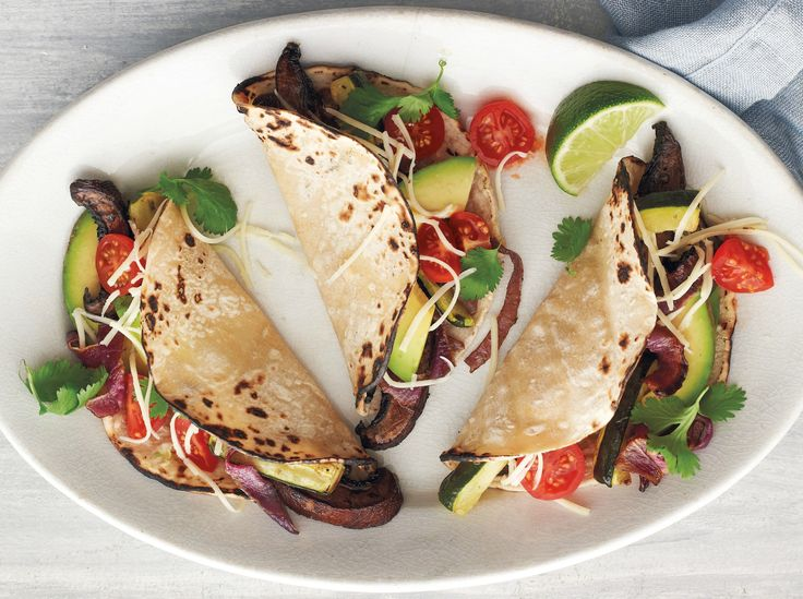 Portobello-and-Zucchini Tacos Recipe