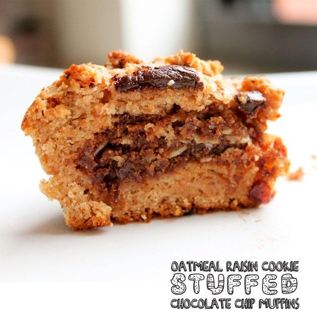 oatmeal raisin cookie inside a chocolate chip muffin. heaven... 1 ...
