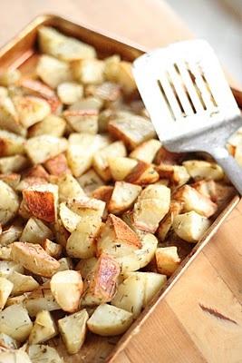 Rosemary & oregano roasted potatoes
