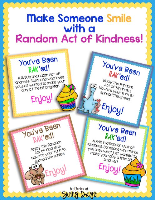 Random Acts of Kindness FREE PRINTABLES! | Teaching Tools | Pinterest