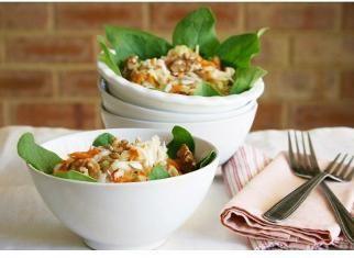 Spinach Celeriac Apple Salad with Honey Mustard Vinaigrette - Door to ...