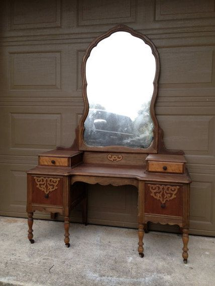 Hold For Tanysha Vintage Antique Vanity Dressing Table