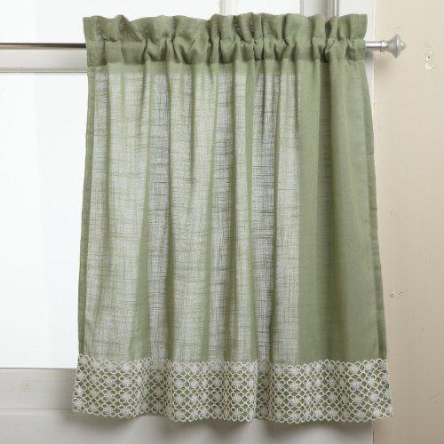 Lorraine Home Fashions Salem 60 inch x 36 inch Tier Curtain Pair, Sage