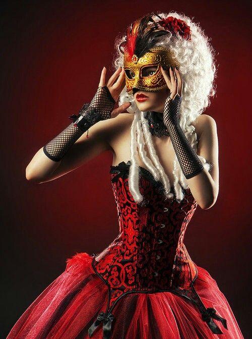 Masquerade ball #red gown #mask | Masquerade Ball | Pinterest