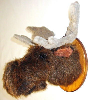 Usa made hand crafted solid wood moose head trophy mount images frompo - Fake stuffed moose head ...