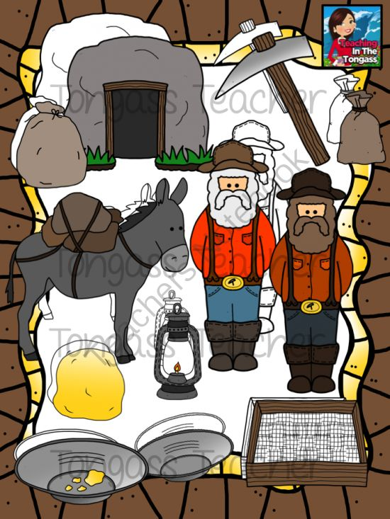 Pack Mule Clip Art Gold rush clipart bundle from