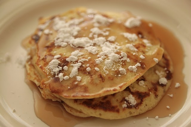 Cottage Cheese Pancakes...close to the recipe i use which is: 1/3 c ...