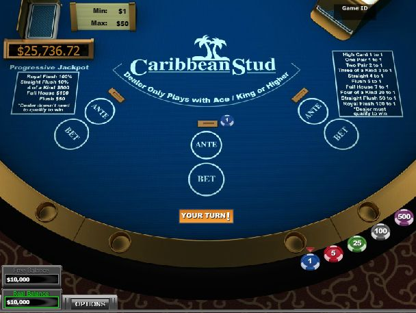 play 5 card stud poker online for free