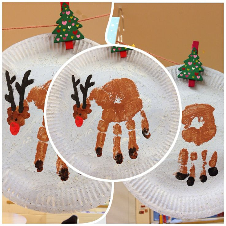 Handprint Reindeer | Christmas crafts | Pinterest
